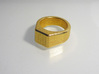 gent's ring 3d printed Printed in Gold Plated gGloss