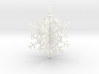 Geometric Snowflake Ornament 3d printed