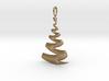 Christmas Tree Ribbon Pendant 3d printed