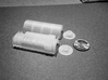 N Scale Westinghouse Turbo Generator 3d printed Kit before assembly and cleaning