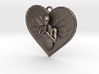 Praying Angel Heart Pendant 3d printed
