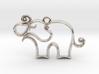 Tiny Elephant Charm 3d printed