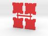 Game Piece, Square Walls, 4-set 3d printed