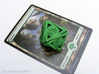 Large 'Twined' Dice D8 Spindown Tarmogoyf P/T Die 3d printed With a Magic card for scale
