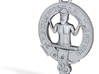 Murray Clan Crest key fob 3d printed