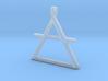 AIR Alchemy symbol Jewelry pendant 3d printed