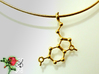 Serotonin 3d printed Detail view of the Serotonin pendant on an 18k gold-plated 2 mm/46 cm Omega-Halsreif.