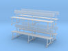 Wrought Iron station bench (O scale) 3d printed