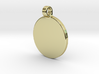Your embossed pendant, round, 25mm. 3d printed