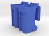 Trash Cart 64 gal Lid Open - HO 87:1 Scale Qty (2) 3d printed