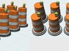 Traffic Barrel With Light (10) 1-87 HO Scale 3d printed