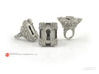 Keyhole Baroque - Huge Detailed Sterling Silver Ri 3d printed Polished Silver
