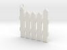 White Picket Fence Keychain 3d printed Flexible White Plastic Fence