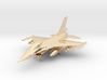 F-16 Fighting Falcon Jet Gold & Precious materials 3d printed