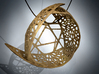 The Tri-leaf Pendant Necklace 3d printed Digital Rendering