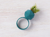 Icosahedron Planter Ring, Size 6 3d printed With moss