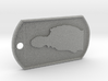 Richard Hammond Silhouette Dog Tag 3d printed