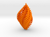 Mathematical Mollusca -  Orange/Green Shell Orname 3d printed
