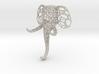 Small elephant clothes-hanger Voronoi 3d printed