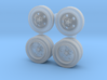 Five-hole Steel Wheels 3d printed