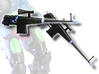 X-Man Assault Rifle (Kronis version) 3d printed Painted Prototype printed in White Strong & Flexible Polished