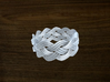 Turk's Head Knot Ring 4 Part X 11 Bight - Size 13. 3d printed