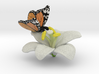 Butterfly And Lily Flower - L 3d printed