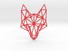 Geometric Fox Head  3d printed