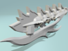 TFP Voyager Beast King Tail/Sword Complete 3d printed Assembled Sword Mode