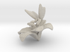 Butterfly And Lily Flower 1 Rock - M 3d printed