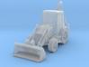 Backhoe Loader 01. Z Scale (1:220) 3d printed