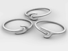 The Ripple Stacked Rings 3d printed Material-less View of the Three Separate Rings
