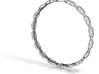 Lima Bean Bangle Bracelet 3d printed