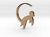 Lucky charm earrings Monkey  3d printed