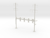 HO Scale PRR W-signal Beam 4 Track  W 2-3 PHASE R 3d printed