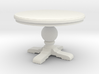 1:24 Round trestle table 3d printed