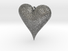 Valentines Day Voronoi Heart Pendant 3d printed