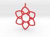 Heart Petals 6 Points - 5cm - wLoopet 3d printed