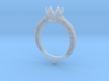 CD270- Engagement Ring 3D Printed Wax  3d printed