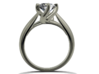 CA6 - Engagement Ring Twisted Style 3D Printed Wax 3d printed