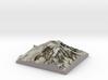 "Mt Rainier Summit Map: 8"" 3d printed"