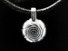 Spiral 3d printed Rhodium Plated