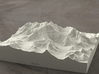 6''/15cm Mt. Everest, China/Tibet, Sandstone 3d printed Radiance rendering of Everest massif model from the North
