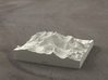 4''/10cm Mt. Everest, China/Tibet, Sandstone 3d printed Radiance rendering of Everest massif model from the North
