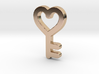Heart Key Pendant - Amour Collection 3d printed