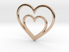 One Heart for Two Pendant - Amour Collection 3d printed