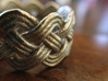 Turk's Head Knot Ring 4 Part X 10 Bight - Size 10 3d printed