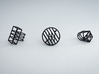 Space Ring: Square 3d printed Space Ring: Square next to the Circle and Diamond versions