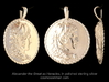 Alexander the Great coin pendant 3d printed