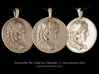 Steel Alexander the Great coin pendant 3d printed